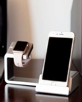 2 in 1 Charging Dock Stand Station With Charger Holder for Apple Watch & iPhone