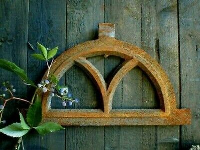 Iron Window,Window for Garden Wall,Country,Like Antique,Semicircular Small 32x20