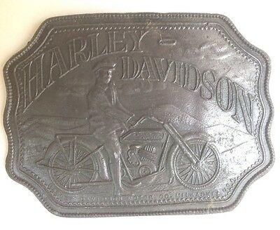 Harley Davidson  Belt Buckle Style Plaque Display Vintage American Retro Classic