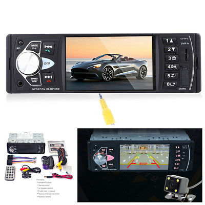 4.1'' HD TFT Screen Car Radio USB Stereo FM/AUX Bluetooth MP5 Player+Rear Camera