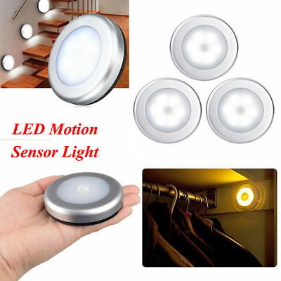 4X 6LED Wireless PIR Auto Motion Sensor Infrared Night Light Cabinet Stair Lamp