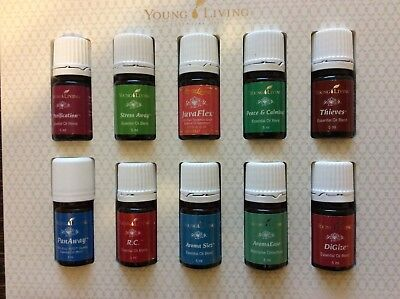Young Living Box of 10 x 5ml Assorted Oil Blends
