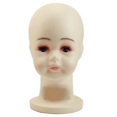 Small Children Mannequins White Manikin Head For Wig Hats Mould Show Stand R4L7