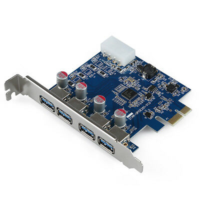 4-Port SuperSpeed USB 3.0 PCI-E PCI Express Card with 4-pin IDE Power Conne R3G7