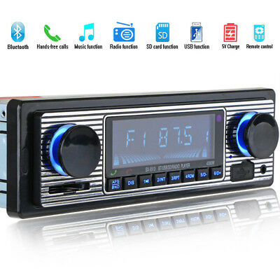Bluetooth Vintage Car Radio MP3 Player Stereo USB AUX Classic Car Stereo Au R4F9