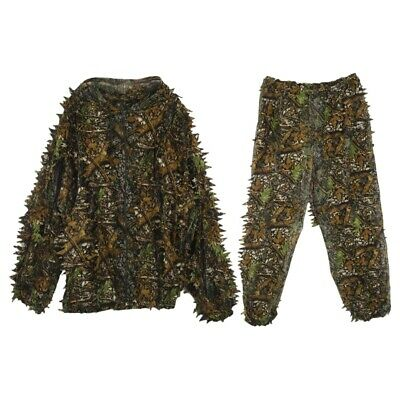 3D Leaf Adults Ghillie Suit Woodland Camo/Camouflage Hunting Deer Stalking A4W2