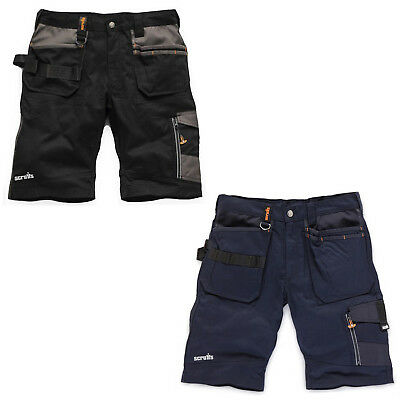 85780176df Scruffs Trade Work Shorts TWIN PACK Black & Navy Multi Pockets Hardwearing  Cargo
