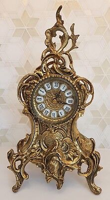 Mantle Clock, Baroque Style in Bronze/Gold