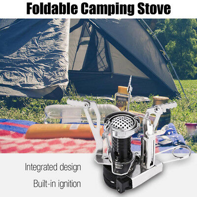 Outlife Portable Camping Gas Burner Foldable Integrated Stove Head with Switch