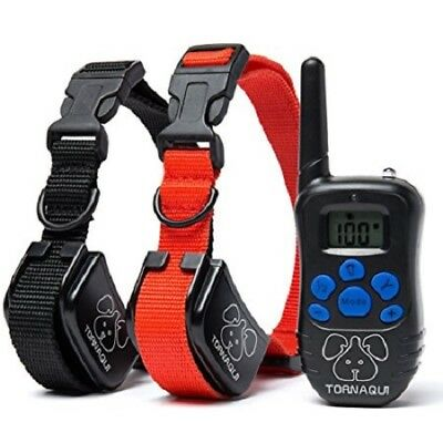 2 in 1 Electric Shock Anti Bark Collar Dog Training Collar With Remote Control