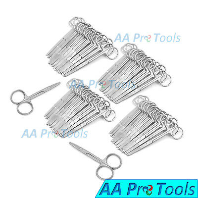 """AA Pro: 50 Pcs Spencer Stitch Scissors 4.5"""" Delicate With Suture Removal Hook"""
