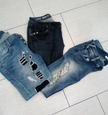 lotto stock jeans donna 44_46 1 marca zu elements