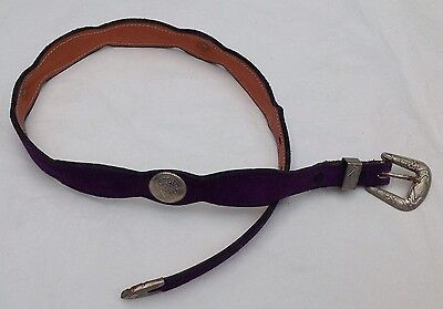 Western American Leather Belt Vintage Concho Buckle Set