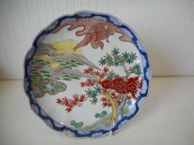 SIGNED Japanese 19th/ 20th C Antique Porcelain Plate or Bowl - Imari?