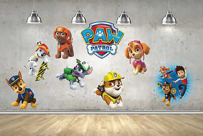 Paw Patrol Wall Stickers Decals Transfers Bedroom Vinyl Childrens Boys Girls art