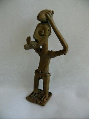 Antique African Bronze Statue Gold Weight Man Figure