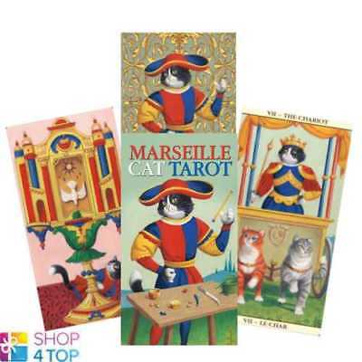 Marseille Cat Tarot Deck Cards Esoteric Fortune Telling Lo Scarabeo New