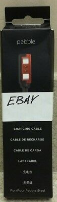 """Pebble 43"""" USB Charging Cable for Pebble Steel 401 Smartwatches Black 40001"""