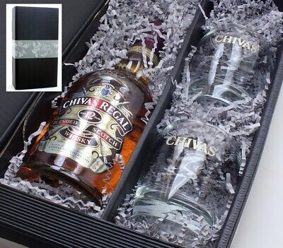 Chivas Regal Scotch Whisky 12 Years 0,7l 40% + 2  Gläser in Geschenkkarton