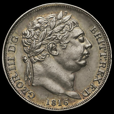 1816 George III Milled Silver Sixpence, G/EF
