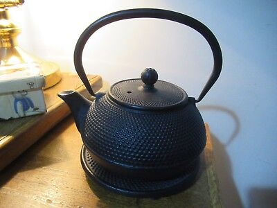 GOTO Japanese Cast Iron Teapot with stand.
