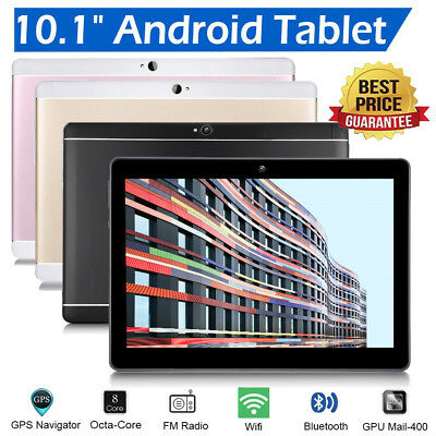 "10.1"" Tablet 10Inch Screen Android 6.0 4+64GB Octa Core Dual Camera Wifi Phablet"