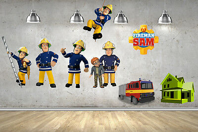 Fireman Sam Childrens Wall Stickers Transfers Bedroom Vinyl Mural Boys Girls