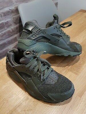 8ad267a8ee47 Nike Huarache Run SE (GS) Kids Womens Khaki Green air max uk 4.5 size