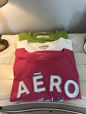 Lot Of 3 Graphic T-shirts, Abercrombie & Aeropostale, 2 XL, 1 XXL Varied Colors