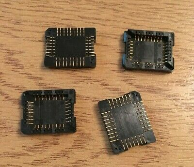 PLCC 32 way SMD  Surface Mount   IC socket    4 pieces     HU320