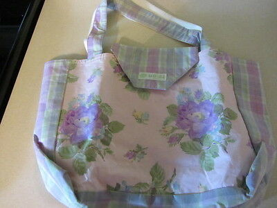 Baby Lulu Boutique Purple Camelia Floral Print Diaper Bag And Changing Pad Nwt