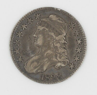 1828 U.s. Capped Bust Silver Half Dollar Coin No Reserve # 556