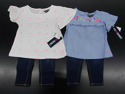 Infant/Toddler Girls Limited Too $40-$42 2pc Peasant Blouse/Jean Sets Sz 12m-4T