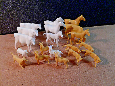 Marx Recast Farm Animal Lot Reissue Toy Figures Horse, Goats, Cows, & More!