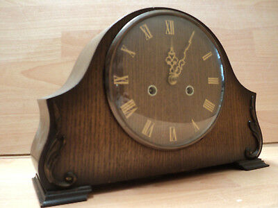 Vintage Art Deco 'Smiths Enfield' 8-Day Mantel Clock with Chimes, Good condition