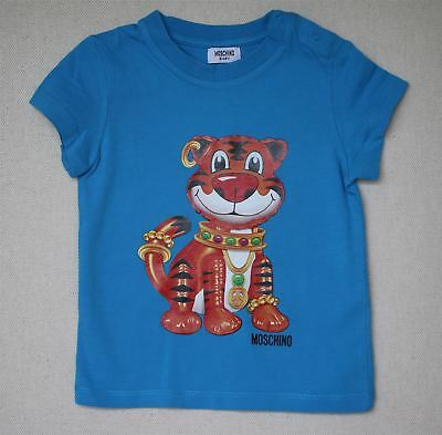 Moschino Baby Boys Blue Tiger Print Top 18-24 Months