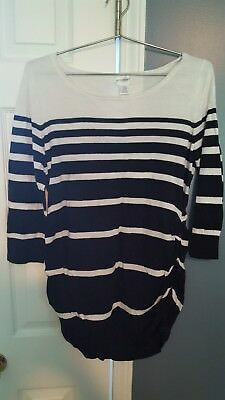 Motherhood Maternity XL Sweater Black and White Stripe