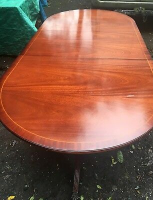 Large Adjustable Heirloom Style Mahogany Dining Table With Claw Tripod Feet