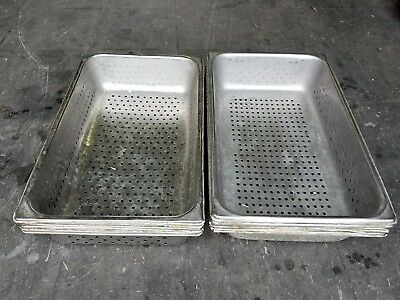 """H/D S/S Full Size  Perforated Steam Table Pan, 4""""Deep 1 Lot of 5"""
