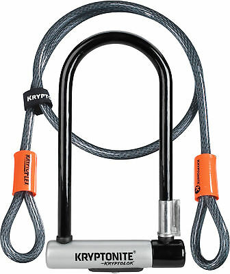 Kryptonite Bike Lock Kryptolok Standard with Flex Cable & Flexframe Bracket