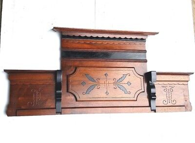 Vintage Header Pediment Entryway Mantle Fireplace