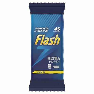 Flash Ultra Lemon Wipes 45 per pack
