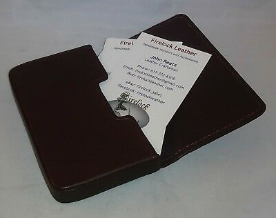 Brown Leather Business Card Holder - by Leatherology