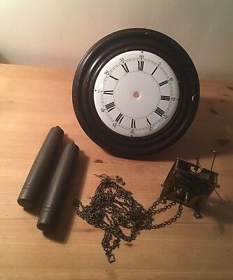 German Clock For Spares Repair Restoration with weights