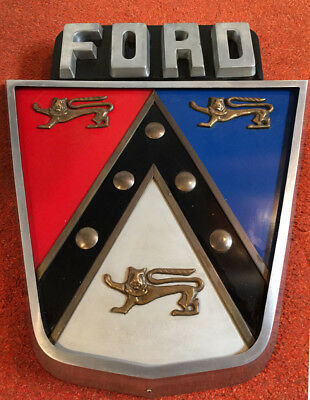 1950's Ford Shield Crest Jubilee Sign. Excellent Condition.