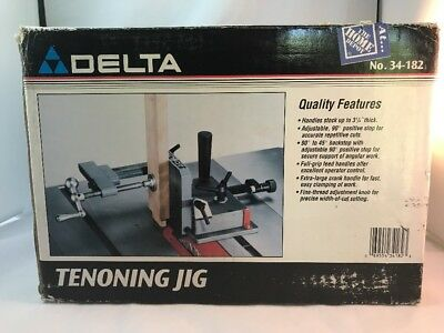 Delta Universal Tenoning Jig for Table Saw Model 34-182