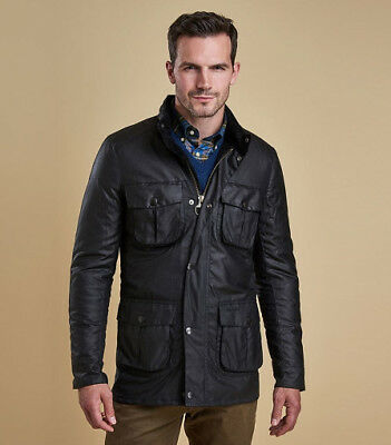 BNWT Barbour Corbridge Waxed Cotton Quilted Jacket Black M fits like S MSRP $429