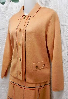 """60's Vintage """"""""love Italian Style"""" 2-Pc Ladies Knit Suit-Pure Wool Italy Knit-14"""