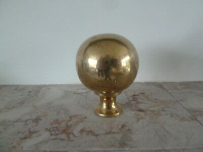 Genuine Antique Solid Brass Finial for a  Brass Bed 55mm.