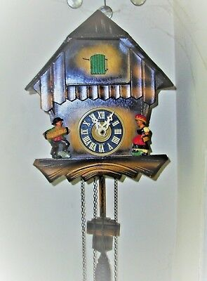 Vintage German Weight Driven Cuckoo Clock Nice Condition Keeps Good Time